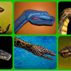 Пазл онлайн: Змеи