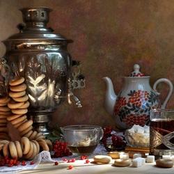 Пазл онлайн: Чай с баранками