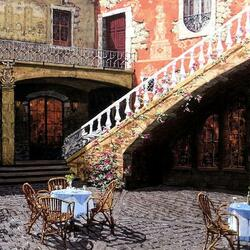 Пазл онлайн: Испанский дворик