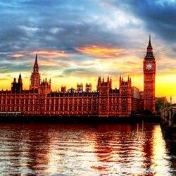 Пазл онлайн: Вечерний Лондон