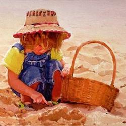 Пазл онлайн: Белый песочек