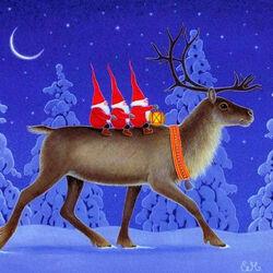 Пазл онлайн: Заботы рождественских гномов