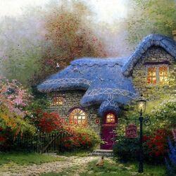Пазл онлайн: Каменный домик