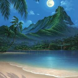 Пазл онлайн: Тропическое побережье