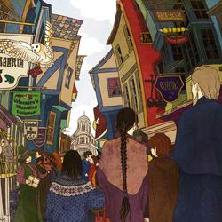 Пазл онлайн: Косой переулок