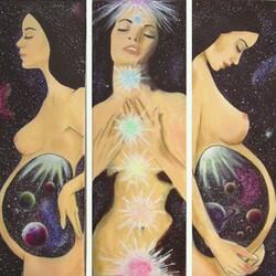 Пазл онлайн: Женщина-вселенная