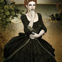 Пазл онлайн: Портрет готической красавицы