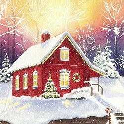 Пазл онлайн: Красный дом