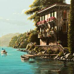 Пазл онлайн: Вилла на побережье