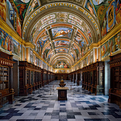 Пазл онлайн: Библиотека монастыря Эскориал