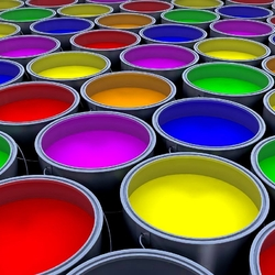 Пазл онлайн: Вёдра с краской