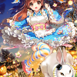 Пазл онлайн: За белым кроликом