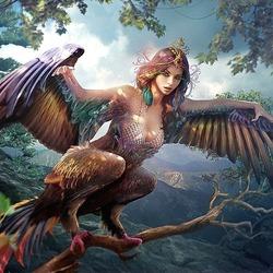 Пазл онлайн: Славянская мифология: птица Сирин