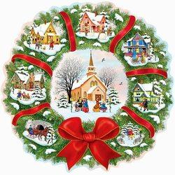 Пазл онлайн: Рождественские домики