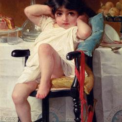 Пазл онлайн: Строптивая девчушка