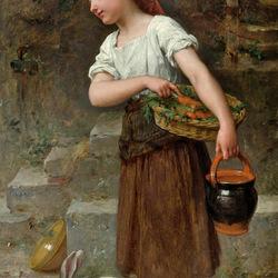 Пазл онлайн: Помощница в хозяйстве