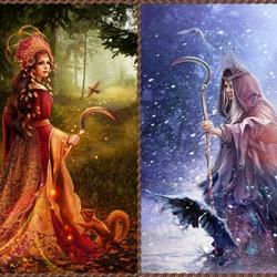 Пазл онлайн: Славянская мифология: Морана