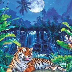 Пазл онлайн: Тигр отдыхает
