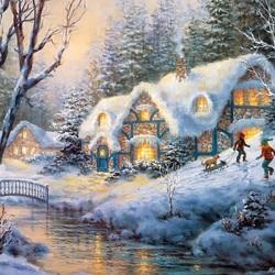 Пазл онлайн: Зимняя забава