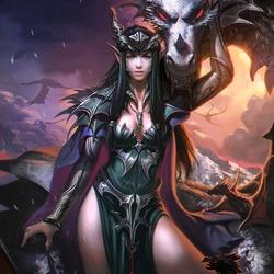 Пазл онлайн: Leolina, Dragon Mystic \ Леолина, мистический дракон