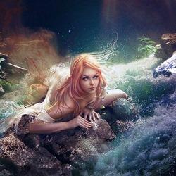 Пазл онлайн: Славянская мифология: русалка