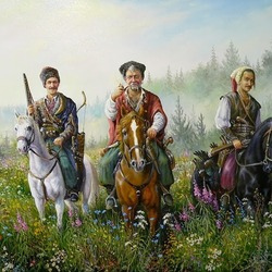Пазл онлайн: Запорожские казаки