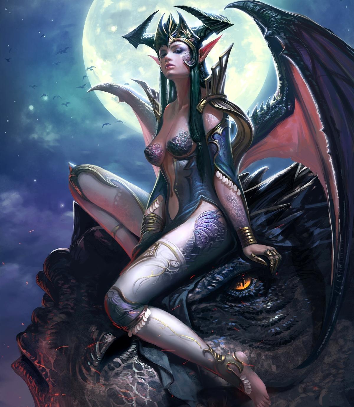 Druid girl fucks a dragon hentay pics