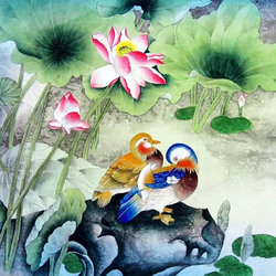 Пазл онлайн: Мандариновые утки