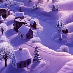 Пазл онлайн: Зимние зарисовки