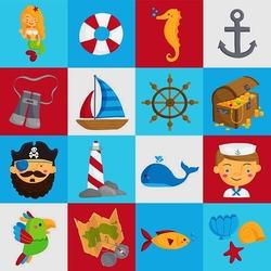 Пазл онлайн: Морской