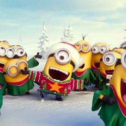 Пазл онлайн: Новогодняя песенка Миньонов