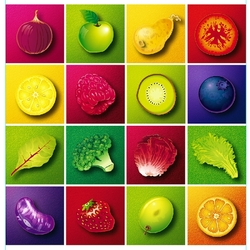 Пазл онлайн: Фруктово-овощной