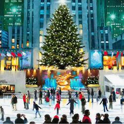Пазл онлайн: Праздничный Нью-Йорк