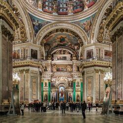 Пазл онлайн: Исаакиевский собор в Санкт-Петербурге