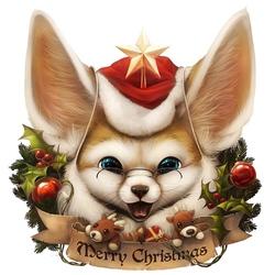 Пазл онлайн: Санта - фенек