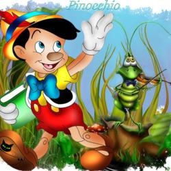 Пазл онлайн: Пиноккио и кузнечик