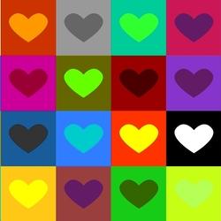 Пазл онлайн: Сердечки