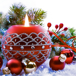Пазл онлайн: Новогодняя свеча