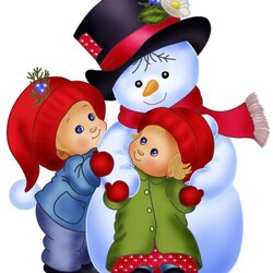 Пазл онлайн: Весёлый снеговичок