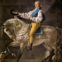 Пазл онлайн: Конный портрет графа Станисласа Потоцкого