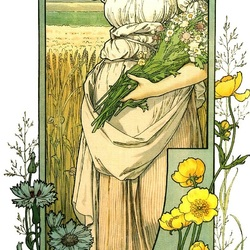 Пазл онлайн: Цветы полей