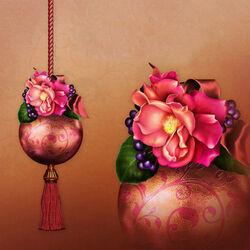 Пазл онлайн: Необычные елочные украшения