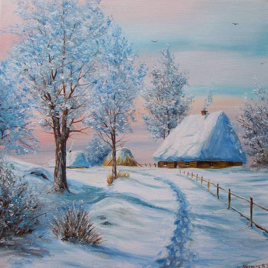 простые картинки про зиму вообще