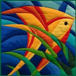 Пазл онлайн: Рыбка. Пэчворк