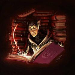 Пазл онлайн: Ночью в библиотеке Асгарда...