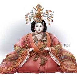 Пазл онлайн: Японская кукла хина. Императрица