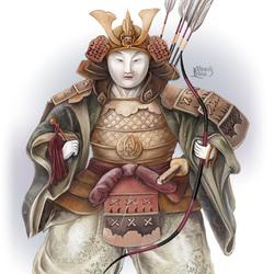 Пазл онлайн: Японская кукла хина. Самурай