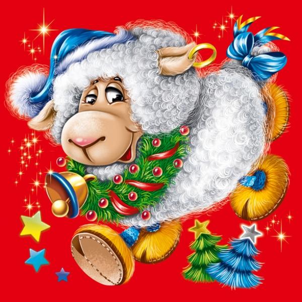 Картинки нового года овечки