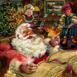 Пазл онлайн: Книга Рождества