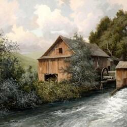 Пазл онлайн: Бурная река